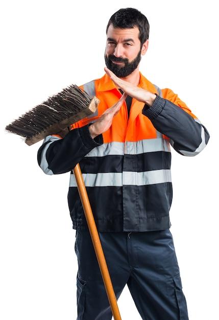 Człowiek śmieci Dokonywania Czas Na Zewnątrz Gestu Darmowe Zdjęcia