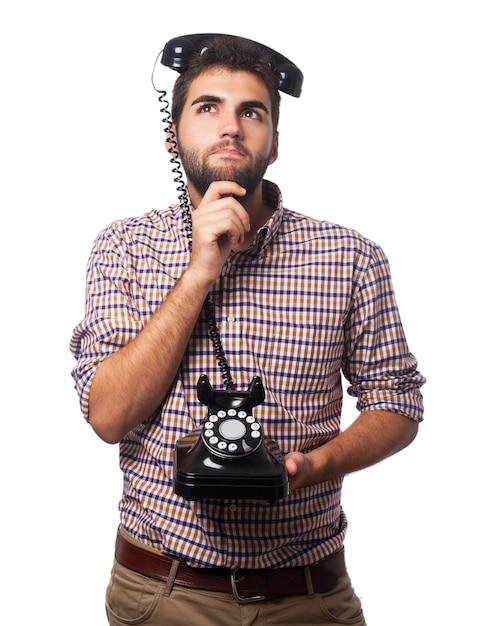 Człowiek z telefonu głowy Darmowe Zdjęcia