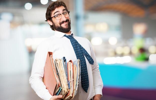 Człowiek z wielu folderów Darmowe Zdjęcia