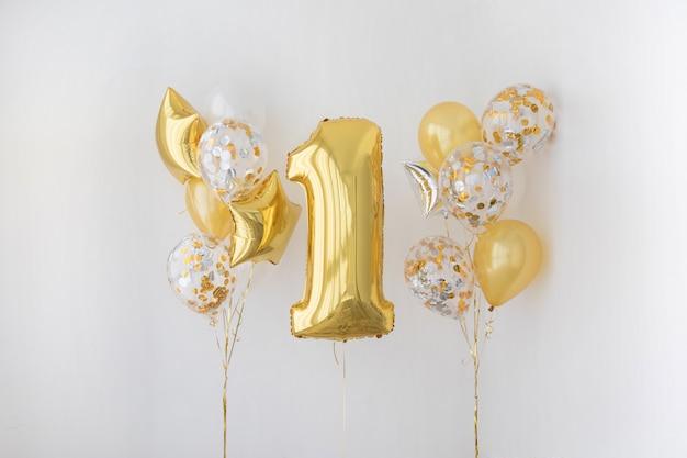 Dekoracja na 1 rocznicę urodzin, rocznica Premium Zdjęcia