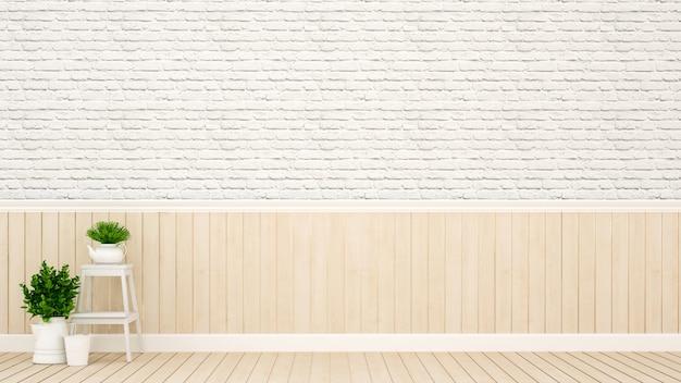Dekoracja roślin i ścian w pustym pokoju Premium Zdjęcia