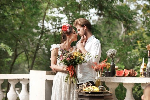Dekoracja ślubna W Stylu Boho Darmowe Zdjęcia