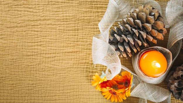 Dekoracje Jesieni Z Miejscem Na Lewo Darmowe Zdjęcia