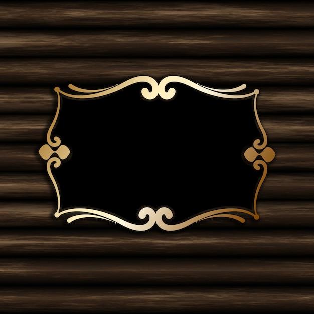 Dekoracyjna Puste Miejsce Rama Na Starym Drewnianym Tle Darmowe Zdjęcia