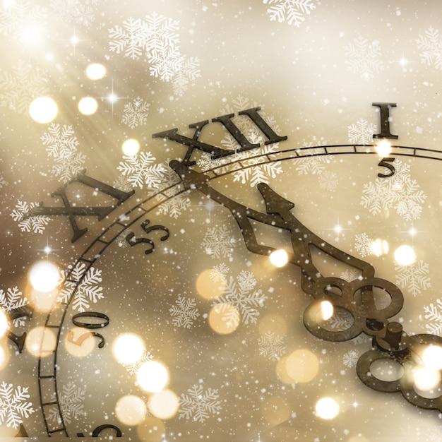 Dekoracyjne Tła Zegar Na Nowy Rok Darmowe Zdjęcia