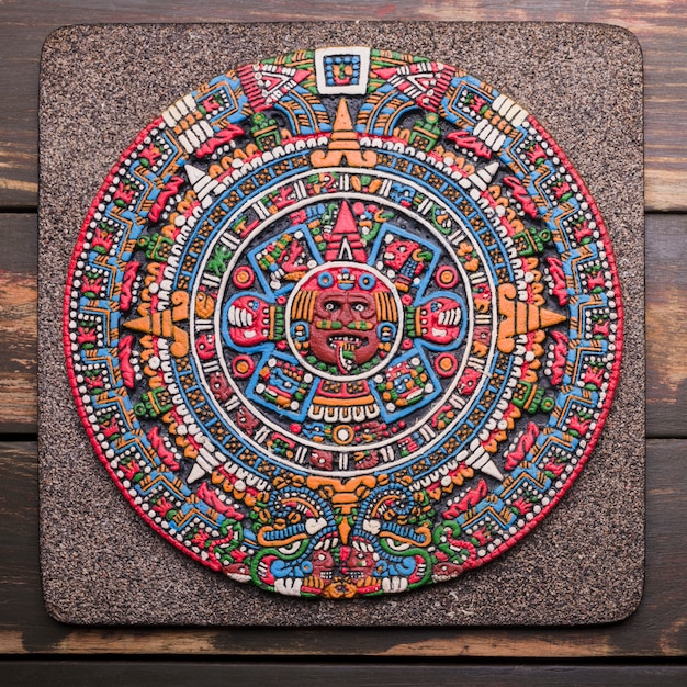 Dekoracyjny symbol meksykański na pokładzie Darmowe Zdjęcia