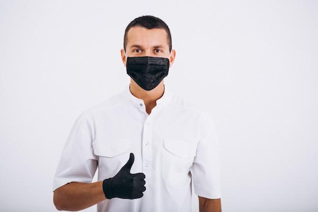 Dentysta W Płaszczu Na Białym Tle Darmowe Zdjęcia