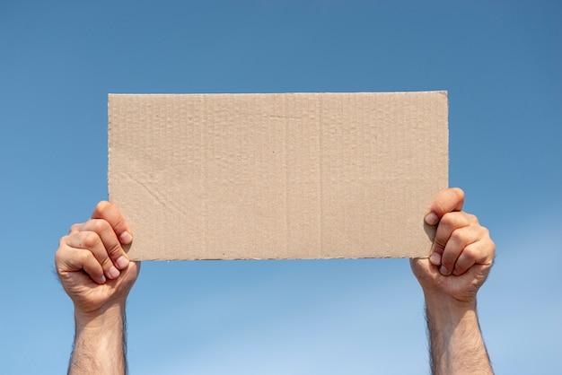 Deska protestująca z makietą Darmowe Zdjęcia