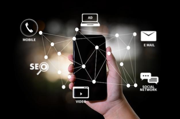 Digital marketing nowy projekt startowy online search engine optimization Premium Zdjęcia