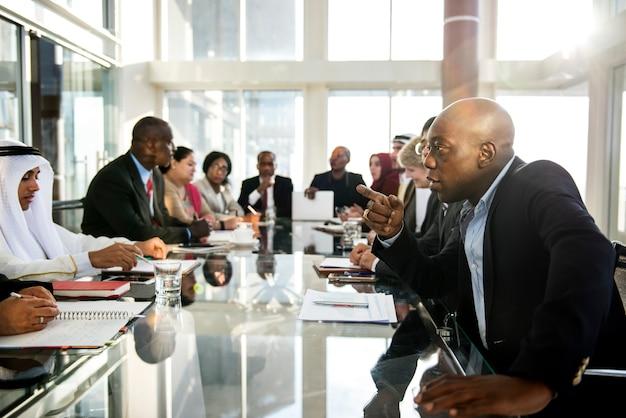 Diversity People Talk International Partnership Partnership Premium Zdjęcia
