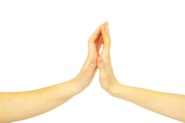 Dłonie Dotykają Premium Zdjęcia
