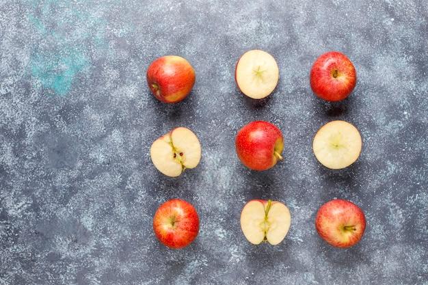 Dojrzałe Pyszne Organiczne Czerwone Jabłka Darmowe Zdjęcia
