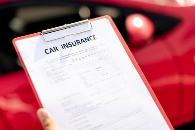 Dokument Ubezpieczenia Samochodu Premium Zdjęcia