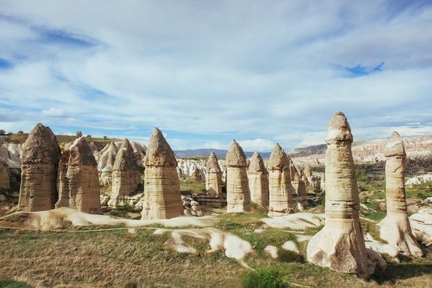 Dolina Miłości W Lecie, Göreme, Kapadocja, Turcja Premium Zdjęcia