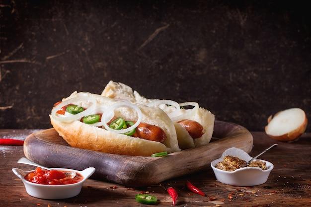 Domowe Hot Dogi Premium Zdjęcia
