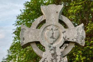 Donegal Cmentarz Celtic Cross Hdr Wyblakły Darmowe Zdjęcia