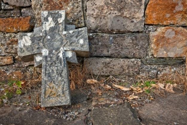 Donegal Cmentarz Kamienny Krzyż Hdr Darmowe Zdjęcia