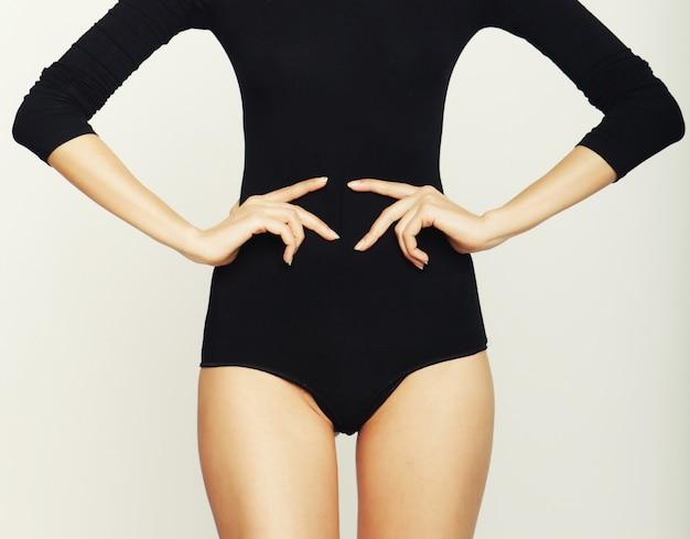 Dopasowanie Dziewczyna W Moda Strój Kąpielowy Premium Zdjęcia