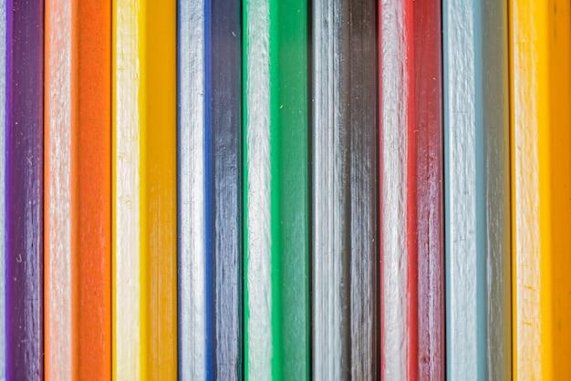 Drewniane Kredki Tło. Premium Zdjęcia