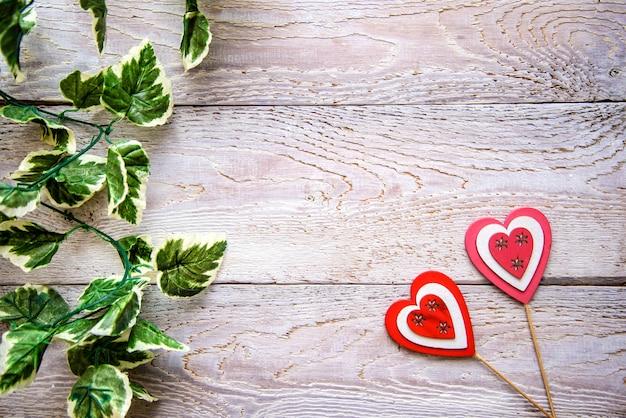 Drewniane tła z serca Premium Zdjęcia