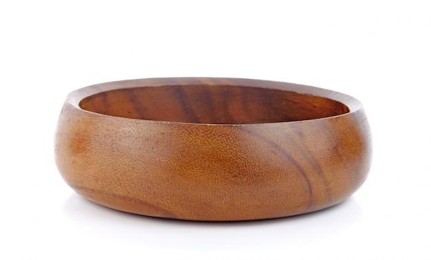 Drewniany Puchar Odizolowywający Na Biel Powierzchni Premium Zdjęcia