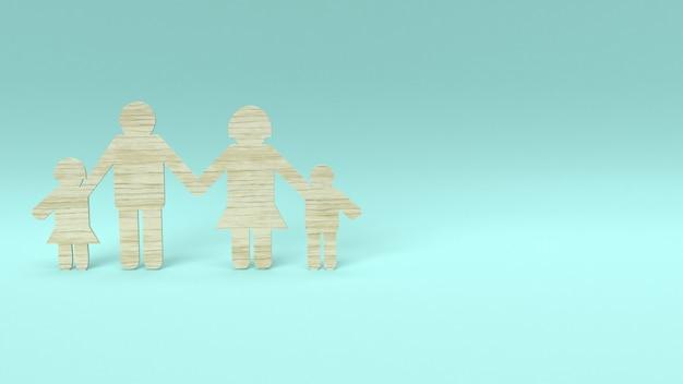 Drewno grupy drewna wycinane dla koncepcji domu. Premium Zdjęcia