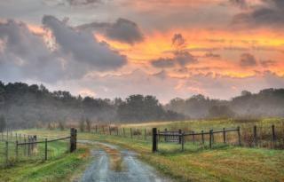 Drogowych i wschód słońca Darmowe Zdjęcia
