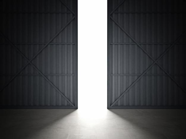 Drzwi hangaru Premium Zdjęcia