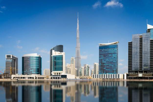 Dubai Downtown Z Panoramą Premium Zdjęcia