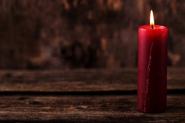 Duża Czerwona świeca Darmowe Zdjęcia