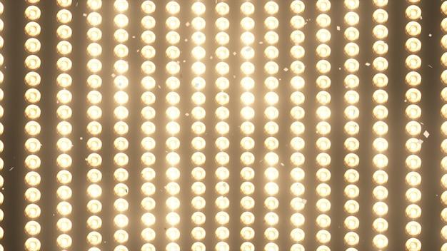 Duże kinkiety i spadające błyszczące złote konfetti Premium Zdjęcia