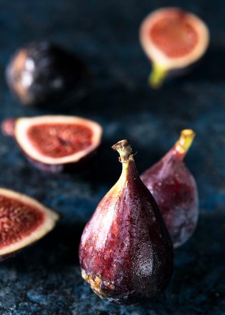 Duży Kąt Jesiennych Fig Premium Zdjęcia