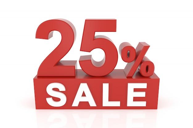 Dwadzieścia pięć procent sprzedaży Premium Zdjęcia