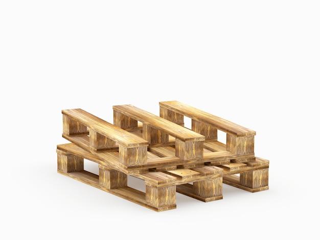 Dwie Brązowe Drewniane Palety Premium Zdjęcia