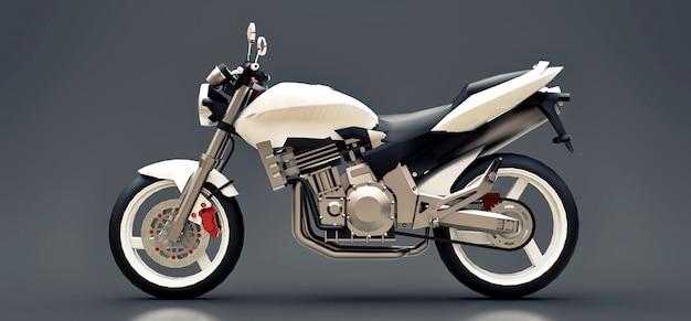 Dwumiejscowy Motocykl Białego Miejskiego Sportu Premium Zdjęcia