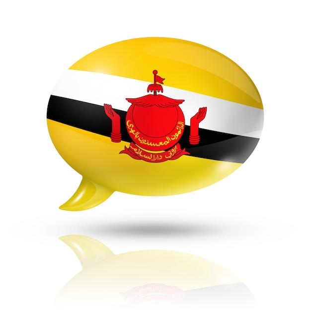 Dymek Flaga Brunei Premium Zdjęcia