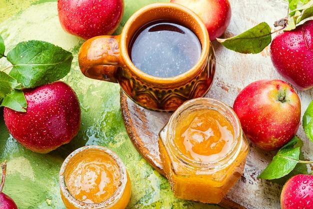 Dżem Z Dojrzałych Jabłek Premium Zdjęcia