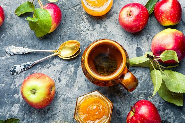 Dżem Ze świeżych Jabłek Premium Zdjęcia