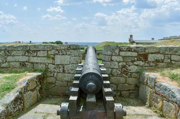 Działo W Starym Fortecy, Almeida Portugalia Premium Zdjęcia