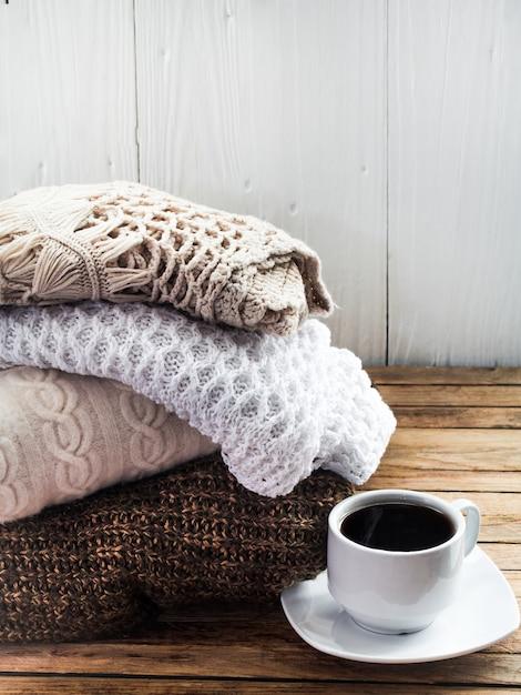 Dzianinowy Przytulny Sweter Składany Darmowe Zdjęcia