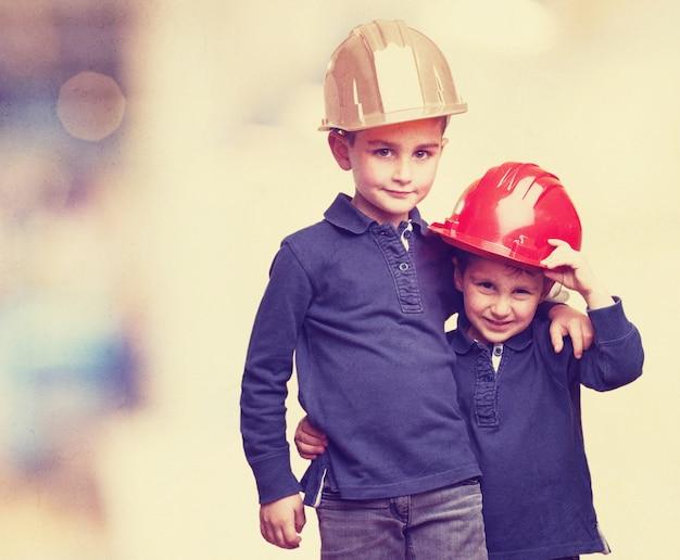 Dzieci z hełmów Darmowe Zdjęcia