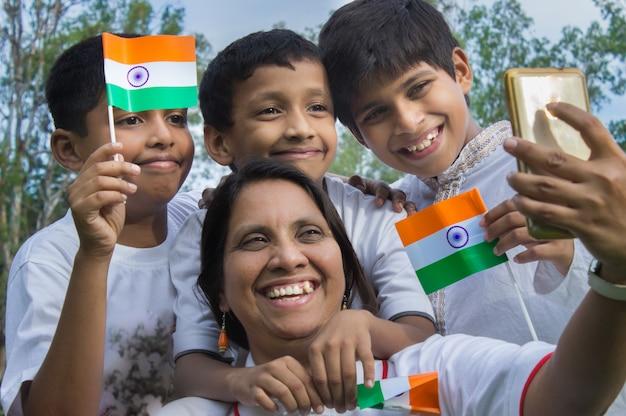 Dzień niepodległości indii Premium Zdjęcia