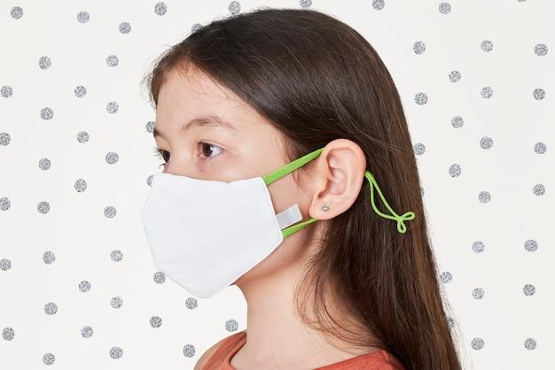 Dziewczyna Ubrana W Białą Maskę Darmowe Zdjęcia