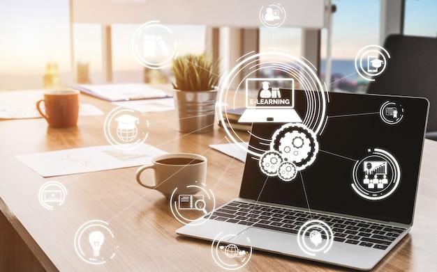 E-learning Dla Koncepcji Studentów I Uniwersytetów Premium Zdjęcia