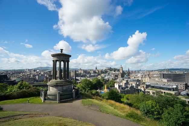 Edynburg Z Calton Hill, Szkocja, Wielka Brytania, Premium Zdjęcia