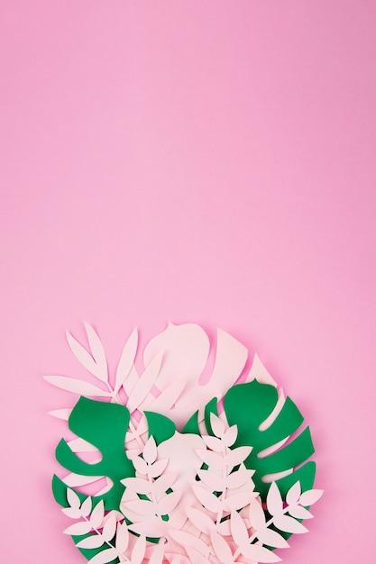 Egzotyczne Liście Origami W Stylu Papieru Darmowe Zdjęcia