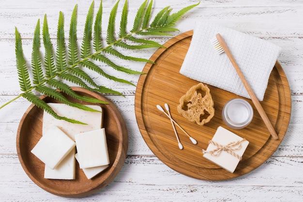 Ekologiczne Produkty Na Drewniane Tła Darmowe Zdjęcia