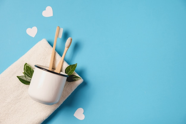 Ekologiczny, Koncepcja Walentynki. Premium Zdjęcia