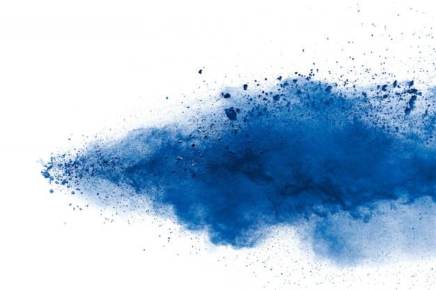 Eksplozja Niebieskiego Proszku Premium Zdjęcia