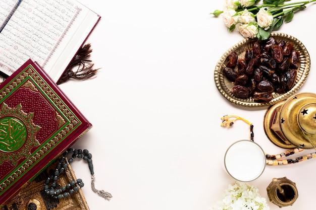 Elementy islamskiego widoku z góry na nowy rok Darmowe Zdjęcia